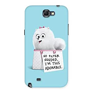 Neo World I Adorable Back Case Cover for Samsung Galaxy Note 2
