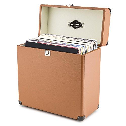 Auna tts6 valigetta porta vinili pelle stile retr - Valigia porta vinili ...