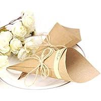 JZK 50 Bricolaje kraft papel marcador posición tarjeta invitación favor para boda confeti cumpleaños fiesta bebé ducha sagrada comunión Navidad favores