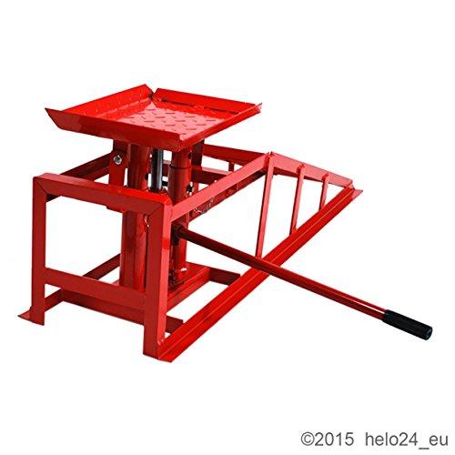 2 x hydraulische KFZ Auffahrrampe Tragkraft 2000 kg in rot