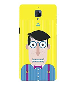 ANIMATED CHARACTER WITH ZIPPED LIPS 3D Hard Polycarbonate Designer Back Case Cover for One Plus Three :: One Plus 3 :: One+3 :: OnePlus 3