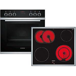 Siemens pq211ka00z Keramik Ofen Elektro-Kochgeräte-Set-Sets Haushaltsgeräte KÜCHE (Keramik, Glas und Keramik, Schwarz, 2000W, 58,3cm, 51,3cm)