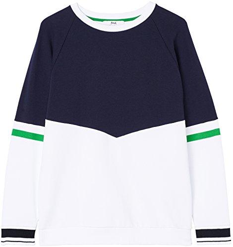 FIND Sweatshirt Herren Colour-Blocking und runder Ausschnitt Blau (Navy)
