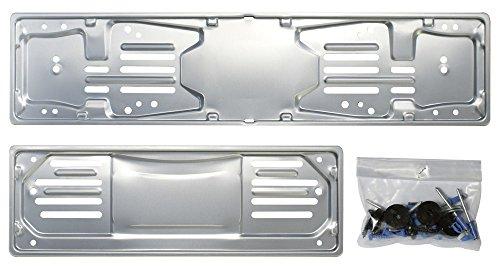 Cora 000116008 Set Portatarga 99, Alluminio Anteriore e Posteriore con Kit Fissaggio