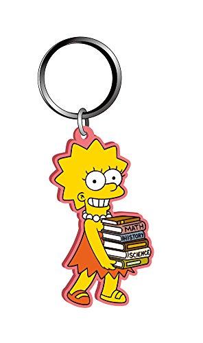 Fox The Simpsons Bart with Skateboard 3D PVC Key Ring Monogram International 27732