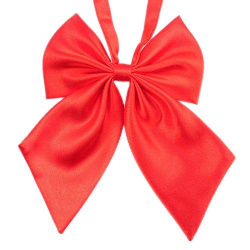 Krawatten Damen Bowknot SOMESUN Uniformen Cosplay Einfarbig Student Maedchen Arbeiten Fliege Bowknot Krawatten (Rot)