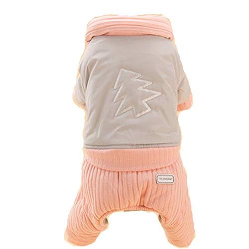 (GJFeng Hundehaustier Baumwolljacke Teddybärpudel Frühling Kleidet Kleine Hundewelpenwelpenherbst Nette Mosaikbaumwollbaumstickerei (Farbe : Gray, größe : XL))