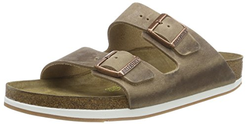 Birkenstock Arizona Leder, Mules mixte adulte Marron - Marron (TABACCO BROWN)