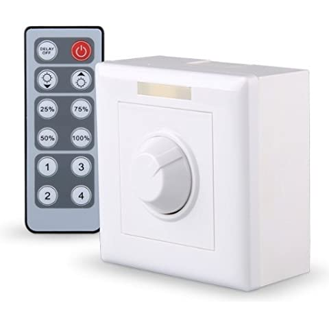 TOOGOO(R) Regulador Intensidad Dimmer Control Remoto 12 Botones 12V 1W