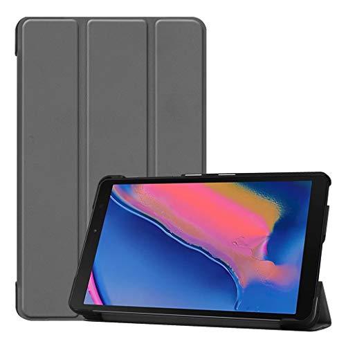 jfhrfged Ultra Slim Leather Stand Case für Samsung Galaxy Tab A 8.0 2019 P205 / P200 (Grau) (Skinomi Tablet Tab Galaxy)