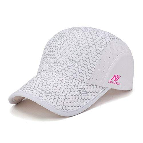Gisdanchz Ultralight Flexible Running Hat, UV-Schutz Unisex Baseball Cap, Damen, Weiß, 56-60cm Athletic Vintage Cap