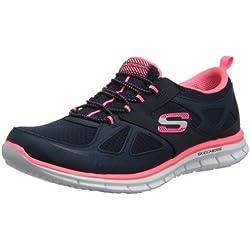 Skechers GliderLynx Damen Sneakers, Navy/Coral, 37 EU