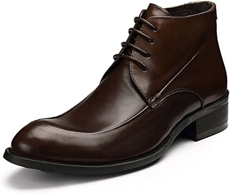 GRRONG Herren Winterstiefel Business Mode Martin StiefelGRRONG Winterstiefel Business Mode Stiefel Brown 42 Billig und erschwinglich Im Verkauf