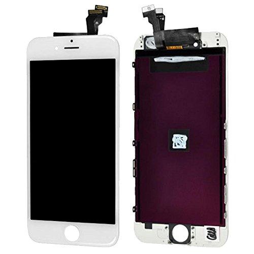 Image of Display LCD Komplett Einheit Touch Panel für Apple iPhone 6 4.7 Zoll Weiß Ersatz Glas + Opening Tool Werkzeug