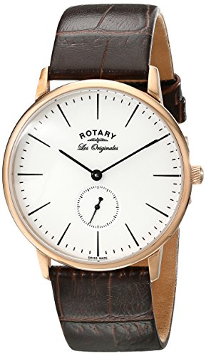 rotary-mens-quartz-watch-with-white-dial-analogue-display-and-brown-leather-strap-gs90053-02