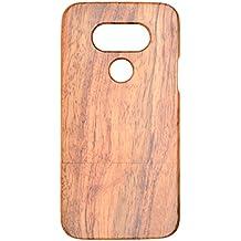 Coque LG G5 en Bois Véritable, PhantomSky[Série de Luxe] Fabriqué à la main en Bois / Bambou Naturel Housse / Étui pour votre Smartphone - Bois de Rose(Rose Wood)