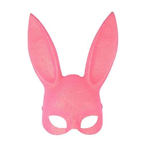 YIFNJCG Halloween-Maskerade-Masken Bar KTV Partei Kaninchenohr-Maske Nette Häschenkaninchen-Maske (Farbe : ()