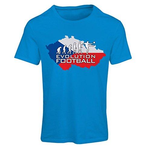 Frauen T-Shirt Evolution Football - Czech Republic (Large Blau Mehrfarben)