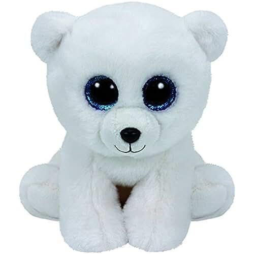 peluches TY - Classics Arctic, oso polar de peluche, 15 cm, color blanco (42108TY)