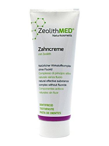 Zeolith MED Zahncreme, Zeolith MED Zahnpasta, natürlicher Wirkstoffkomplex, ohne Fluorid, 75 ml