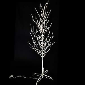 led baum wei 160 cm hoch lichterbaum 200 led warmwei f r innen au en von gartenpirat amazon. Black Bedroom Furniture Sets. Home Design Ideas