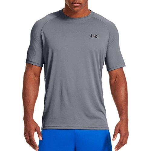 Under Armour Herren Fitness T-Shirt UA Tech Tee Stahlgrau / Schwarz