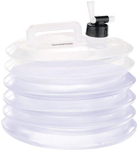 Semptec Urban Survival Technology Kunststoffkanister: Faltbare Wasserkanister mit Zapfhahn, 5 Liter, rund, 3er-Set (Frischwassertanks Wohnwagen)