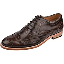 one8 Select by Virat Kohli Men's Purple Leather Brogue Shoes