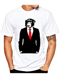 LHWY Color Sóldo Hombres Deporte Fitness T-Shirt de Poliéster Irregular Manga Corta Cobertura Slim Fit Blusa Verano a79jQMSzzs