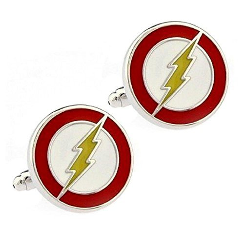 Ducomi® Cufflinks Super Heroes Collection - Batman, Superman, Green Lantern, Captain America, Iron Man, Star Trek, Star Wars, Thor, Spiderman, Phantom (Flash)