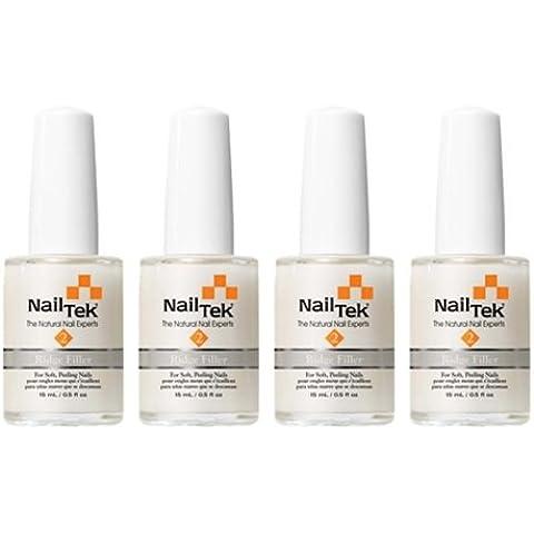 Nail Tek Nail Treatments–Ridge Filler–Foundation II–0.5oz/15ml each–Pack of 4