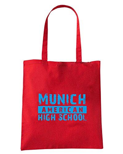 T-Shirtshock - Borsa Shopping OLDENG00768 munich american high school 1 light Rosso