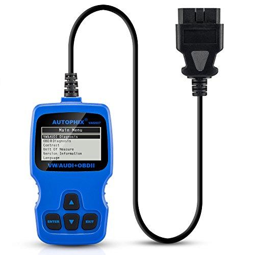 OBD2, AQV VAG007 Bleu, Scanner de diagnostic, lecteur de code défaut pour les voitures, Lecteur de code automatique, pour vérifier le Moteur codes Lecteur de code automatique pour VW