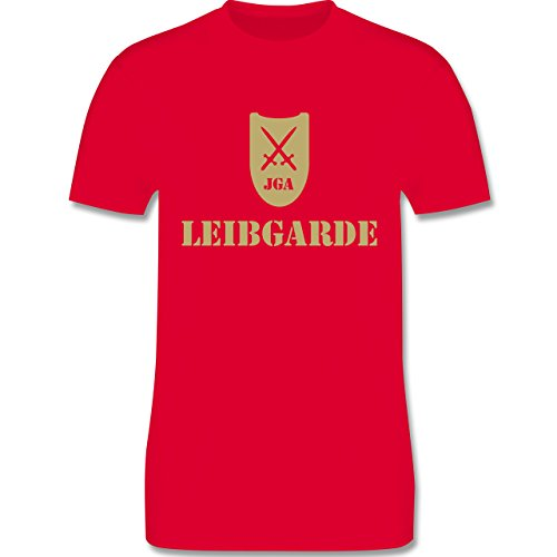 JGA Junggesellenabschied - Leibgarde - Herren Premium T-Shirt Rot