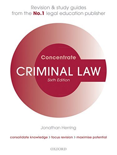 Criminal Law Concentrate: Law Revision and Study Guide (English Edition) por Jonathan Herring