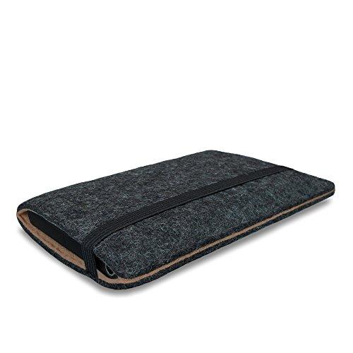 Stilbag Filztasche 'FINN' für Apple iPhone SE - Farbe: anthrazit/beige anthrazit/braun