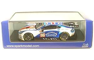 SPARK-Aston Martin-Vantage lmgte Am-Le Mans 2017Coche de ferrocarril de Collection, s5844, Color Blanco/Azul