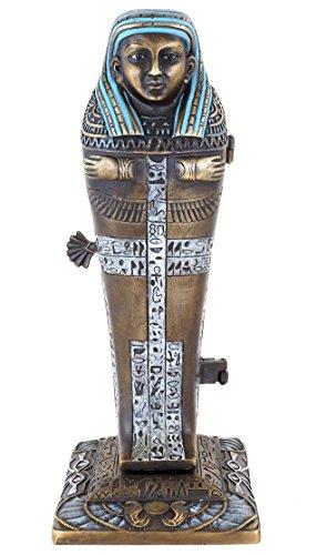 Esta figura de bronce de Viena erótica introducirte en el tiempo de sagenumwobene del antiguo Egipto. en primer lugar se presenta esta pintada a mano bronce de Viena como detalle sarcófago, la fecha para los ritos y creer ideas de los antiguos egipci...