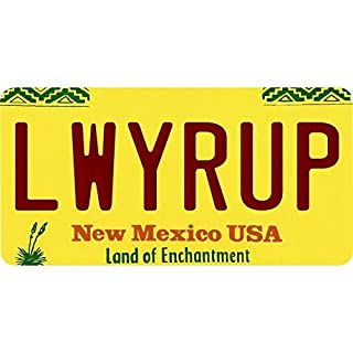 Inga New Sign lwyrup Lawyer up New Mexico Land of Enchantment State Nummernschild, 15,2 x 30,5 cm