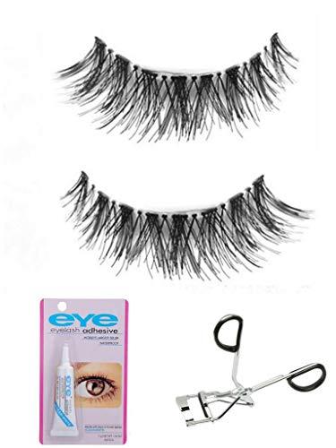 Colour Blast Eyelash Eyelashes With Glue And Eyelashes Curler 3D Mink Eyelashes Strip False Eyelashes For Women Eyelashes Natural