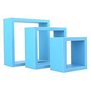harbour housewares square floating box wooden wall shelf shelves 3 rh amazon co uk