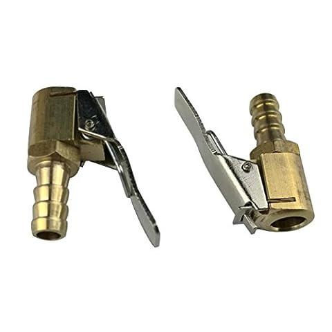 hunpta 2Gonfleur Valve en laiton connecteur Valve pneu Pompe à air 8mm Auto Voiture Camion Pneu, doré