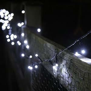 Guirlande Lumineuse Solaire avec 100 LED Blanches de Lights4fun