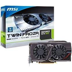 MSI N660 Twin Frozen 2GD5 Carte Graphique Nvidia Geforce GTX 660 980 MHz 2048 Mo