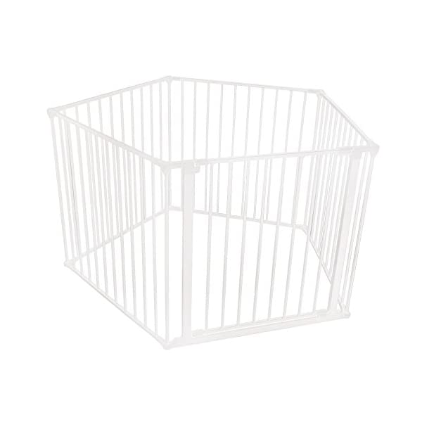 Safetots Baby Pentagon Play Pen with Mat (White) Safetots The perfect solution for keeping baby in a safe area whilst they rest and play Includes 1x 72cm Gate Opening Panel and 4x 72cm Panels Extra wide door section for easy access 1