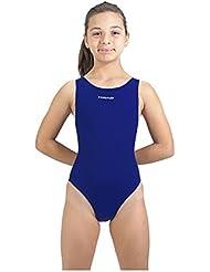 10016c83c663 Head Solid Splice Last PBT SWS-Costume da Bagno Intero da Ragazza Blu Azul  Marino