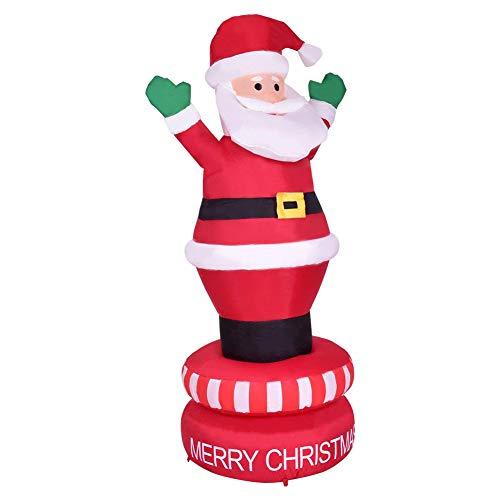 6 Fuß Aufblasbare Weihnachtsmann LED Leuchten Riesige Weihnachten Weihnachten Indoor Outdoor Garten Dekoration