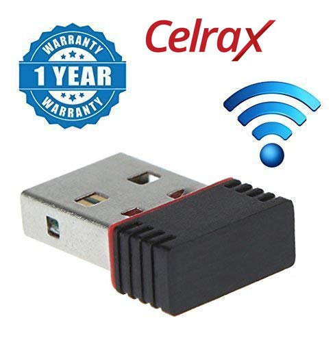 Celrax Wi-Fi Receiver 300Mbps, 2.4Ghz, 802.11B/G/N USB 2.0 Wireless Wi-Fi Network Adapter