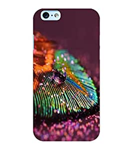 ColourCraft Peacock Feather Design Back Case Cover for APPLE IPHONE 6S