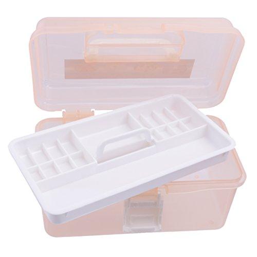 Boîte de Rangement D'outils Nail Art Vide Contenant de Maquillage Couleur Aléatoire